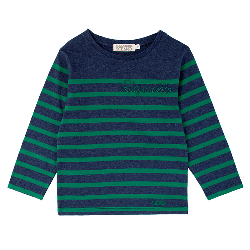 Camiseta Riquiño azul y verde niño