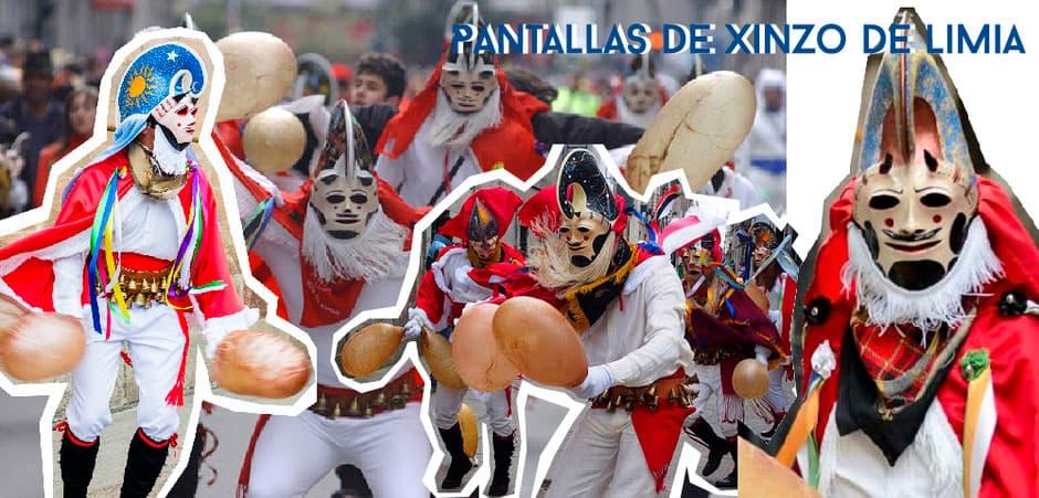 Pantallas de Xinzo de Limia, Entroido tradicional de Galicia